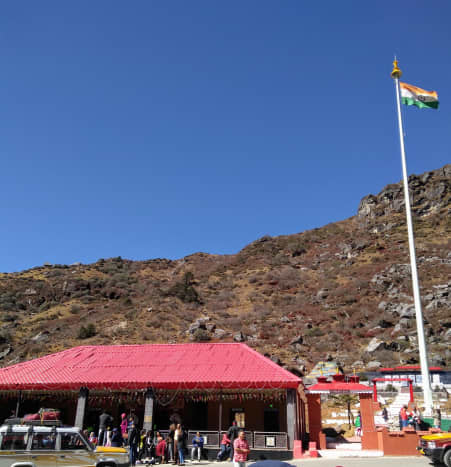 New Baba Mandir (outside), a shrine built in the honor of the valiant soldier of Indian Army, Harbhajan Singh.