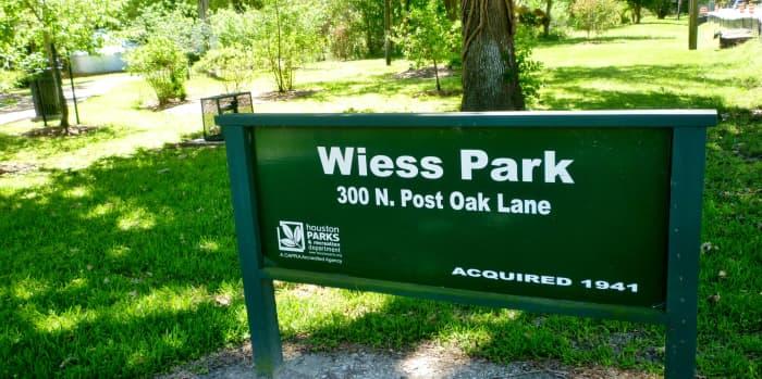 Wiess Park, 300 N. Post Oak Lane, Houston, Texas 77024