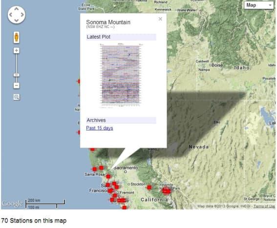 A screenshot from the USGS website