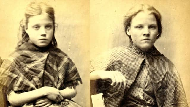 Mug shots of young girls arrested In Britain