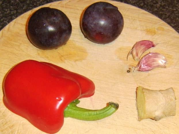 Fruit and vegetable ingredients for duck leg casserole