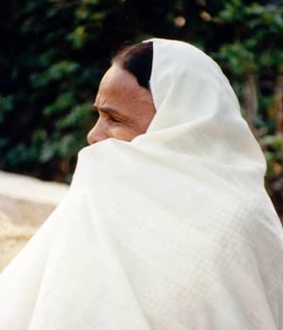 Tunisian woman wearing a haik