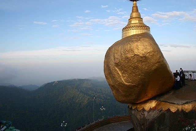 Golden Rock in Kyaiktiyo Hill, Myanmar