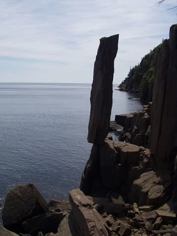 Balancing Rock in Nova Scotia