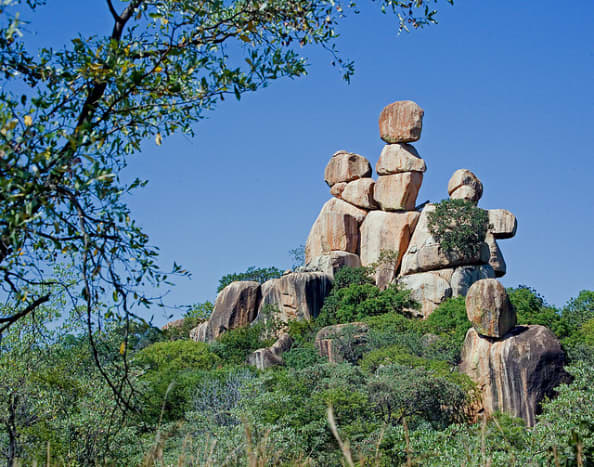 Mother and Child Rock in Zimbabwe