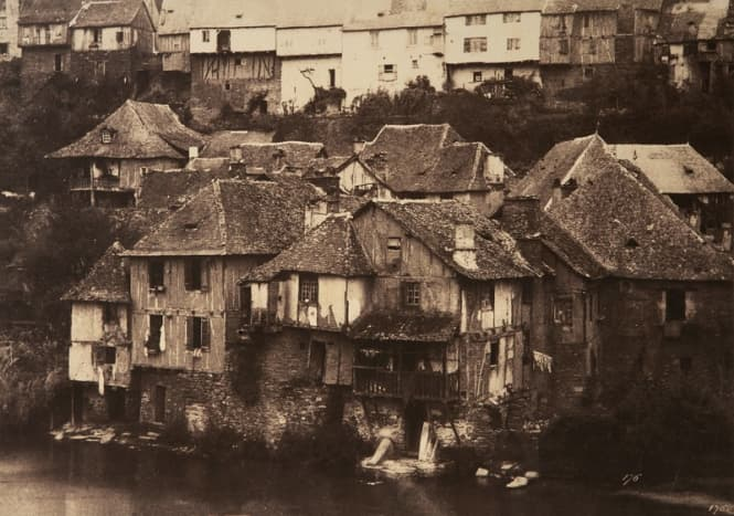 Village by the waterfront.  What an interesting image and capture.