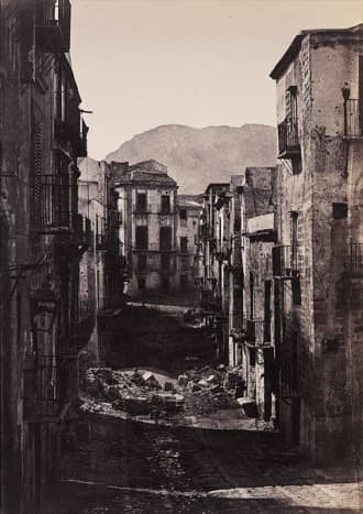 Ruins in Palermo, Photo by Gustave Le Gray in 1860.
