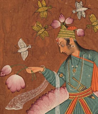 Kamala Ragaputra of Dipak Raga, Pahari, Chamba, 1690-1700 AD