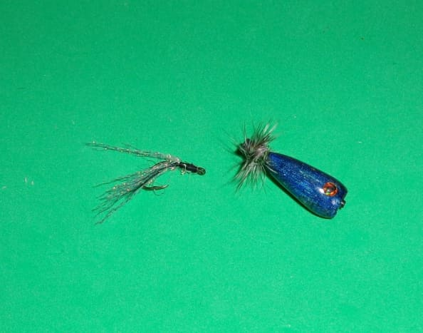 Tube Popper Fly with a Dressed Hook