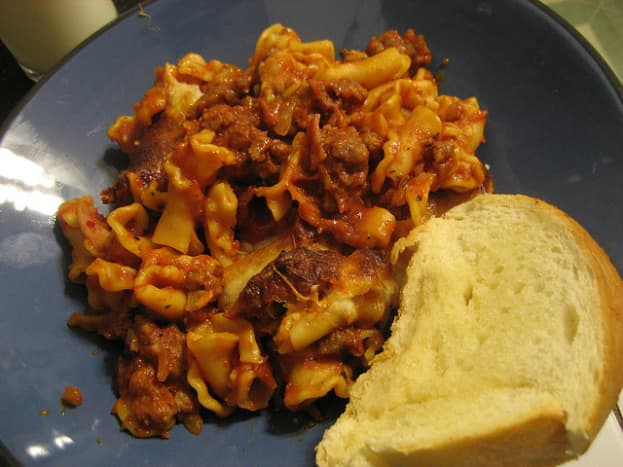 One version of the casserole type of Cavatini.