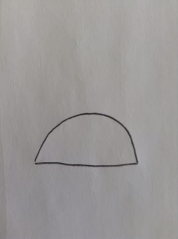 Step 1. Start with a semi-circle.