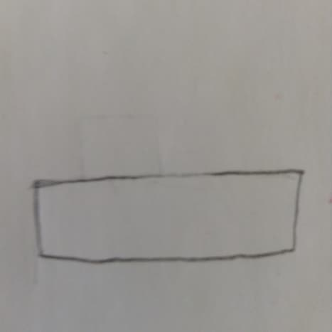 Step 1. Start with a rectangle for the body of the car.