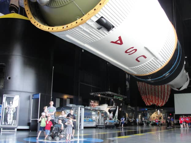 We spent our last day of sightseeing in Huntsville and went to the Space Center. We got to see the impressive Saturn V rocket and a few other exhibits related to it.