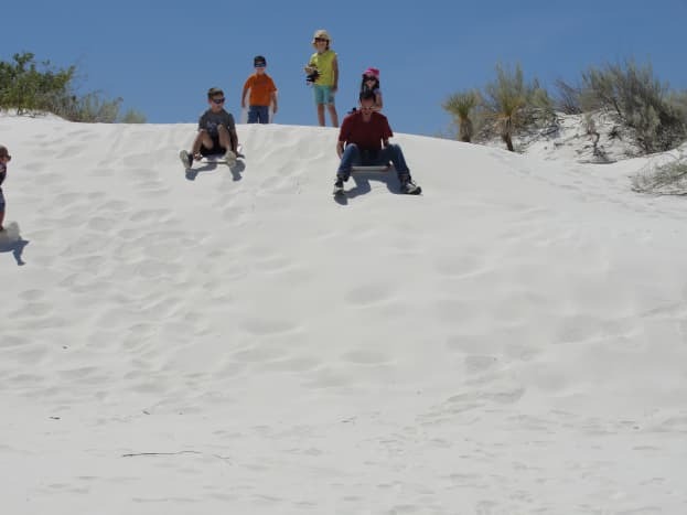 White Sands National Monument was pretty amazing! Be sure to bring a sled, some wax, & sunglasses.