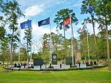 View from walking & jogging trail at Fallen Warriors Memorial