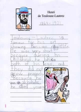 Toulouse-Lautrec Notebooking Page