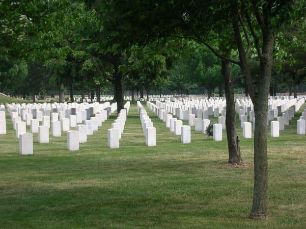 The Rock Island Arsenal Cemetery.