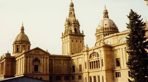 Beautiful portion of the castle on Montjuic in Barcelona