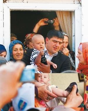 Ali Yakubov with his family