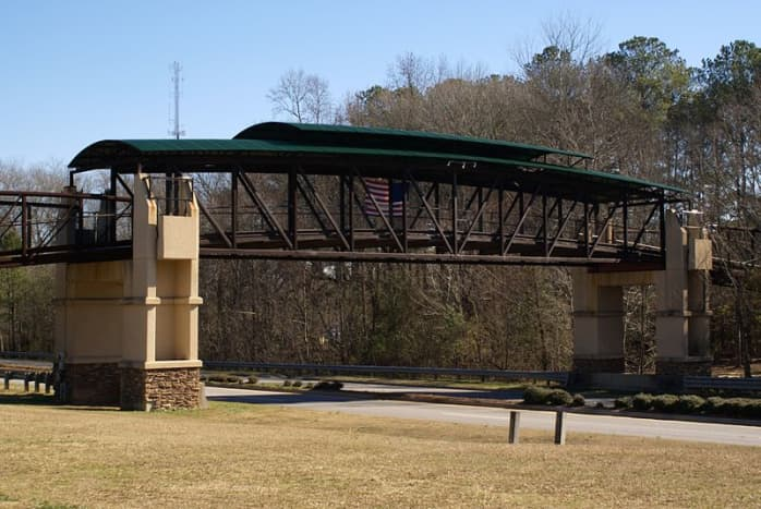 Peachtree City golf cart bridge.
