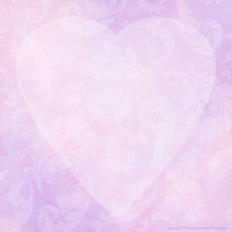 Pink and purple heart and flowers free blank valentine party invitation