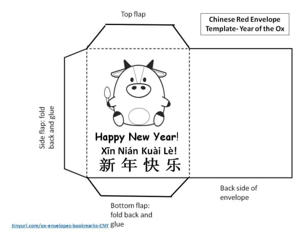 Year of the Ox Lucky Red Envelope Template #1