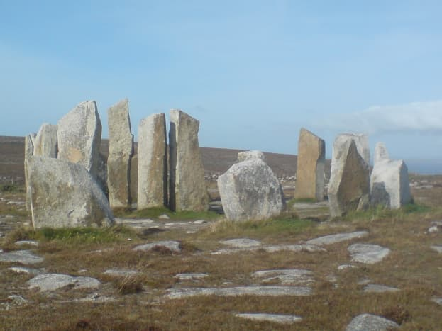 Standing Stones, near Belmullet Town, Ireland