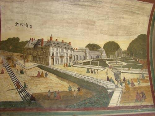 Wall Paintings at Arki Palace near Arki in Himachal-Pradesh