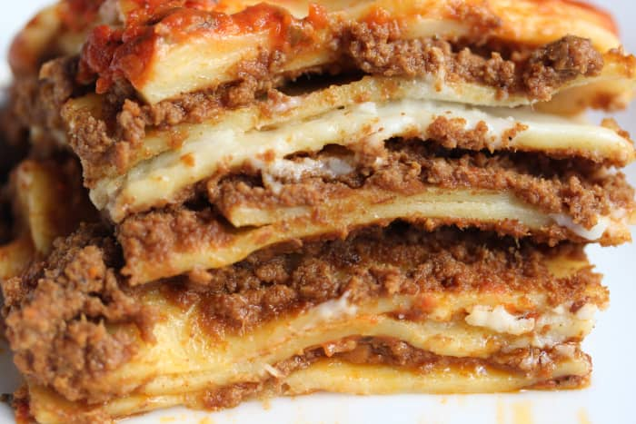 A lasagna with 17 layers.