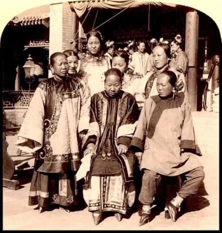 In 1900, foot binding kept them largely immobile.