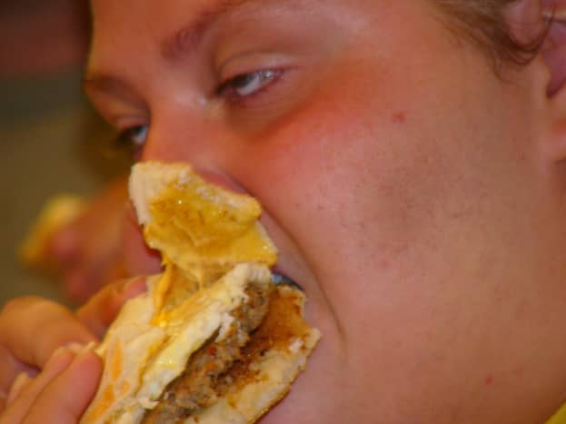 Be careful not to choke when eating at 3 A.M.