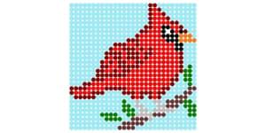 cardinal perler bead pattern