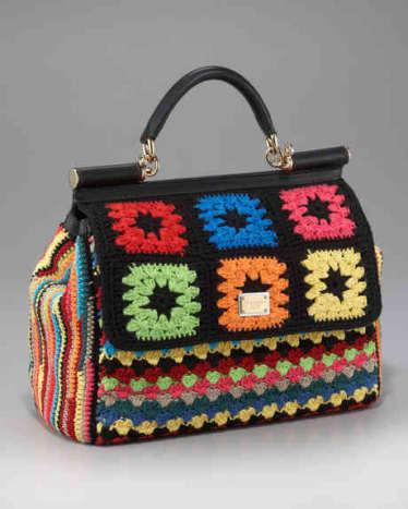 Miss Sicily Crochet Handbag by Dolce and Gabbana