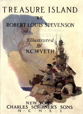 Title page, Treasure Island by Robert Louis Stevenson, illustrated by N. C. Wyeth, Charles Scribner's Sons, 1911