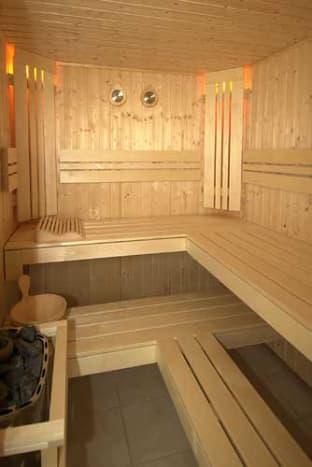 A modern Finnish sauna.