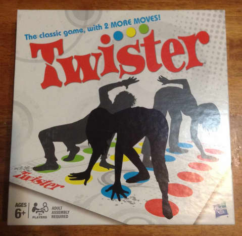This is my game of Twister so that you can see what the box looks like for the version of the game that includes the 2 extra moves!