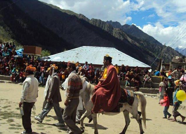Inauguration of Pori Mela by Thakur of erstwhile Thakur family of Triloknath