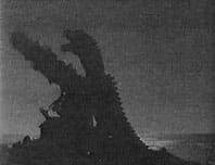 The Beast destroys a lighthouse in Maine.