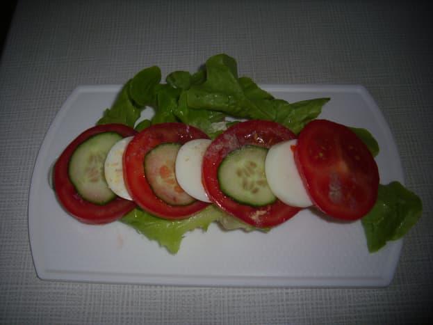Vegetables  and Eggs  Croissant Sandwich