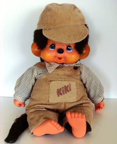 "Vintage 18"" big Monchhichi Sekiguchi doll"