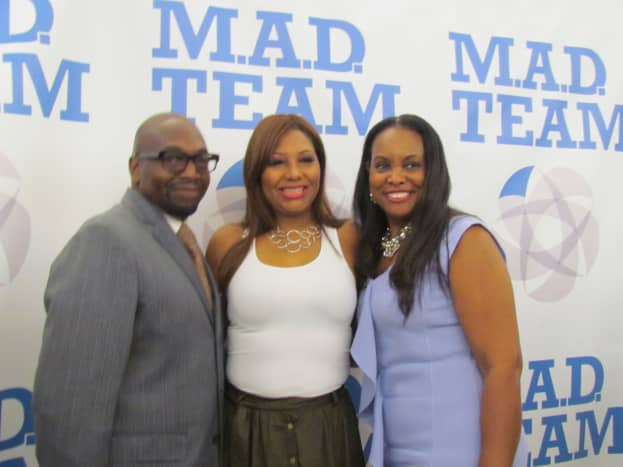Traci Braxton, Valencia Pamphile and members of the Mad Team presented this evening of Health Awareness