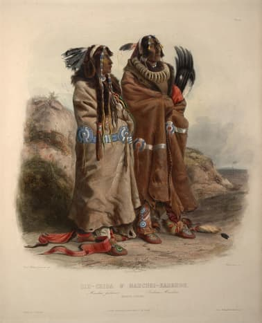 Members of the Mandan Nation, circa 1840.