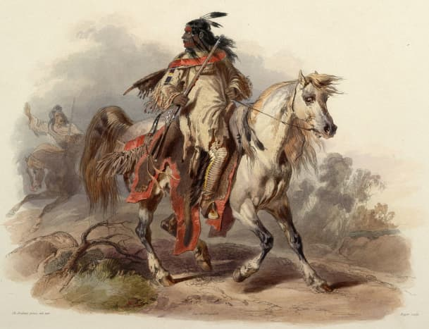 Blackfoot warrior, circa 1840,