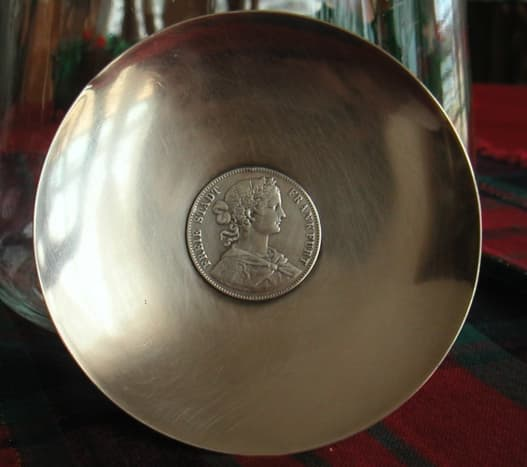Sterling silver coin tray