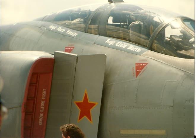 An F-4 with an Air-Air kill marking, Andrews AFB, MD, circa 1990.