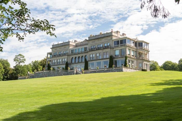 One of the bigger mansions along Lake Geneva.