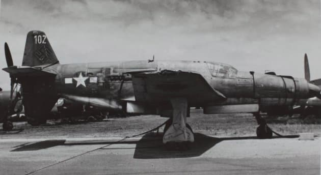 A Do 335 with USAAF markings in the U.S. for evaluations.