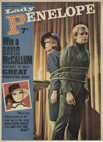 Lady Penelope magazine offering an Ilya Kuryakin oil painting as a competition prize