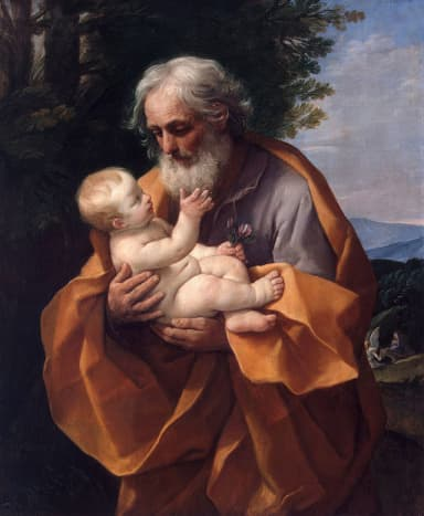 St Joseph with the Infant Jesus, painted in 1635.