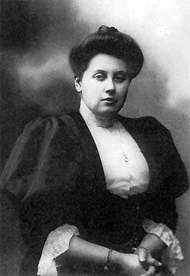 Anna Vyrubova worshiped Rasputin and was close friends with the Royal Family. Note the handcuffs as she lead to her fate during the Russian Revolution.